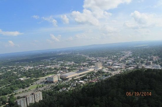 Hot Springs Mountain: view of Hot Springs