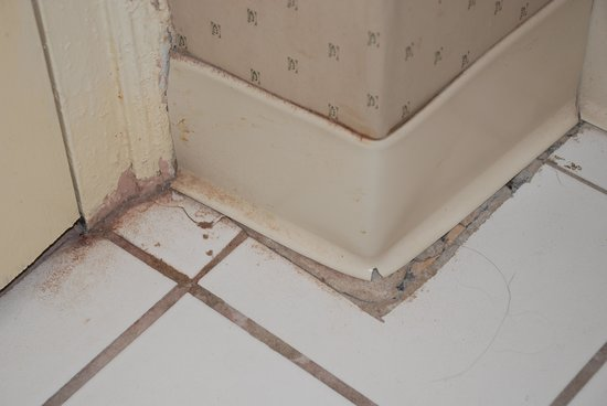The Shawnee Inn and Golf Resort: Bathroom floor