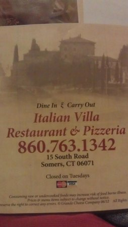 Italian Villa Restaurant In Somers Ct