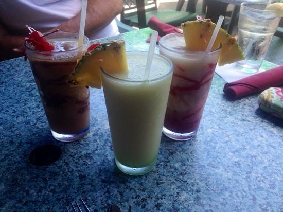 Refreshing frozen drinks at Keylime Bistro.