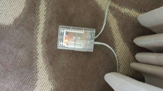 Hyatt Regency Coconut Point Resort and Spa: Dimmer switch for lamp over table hidden on the floor