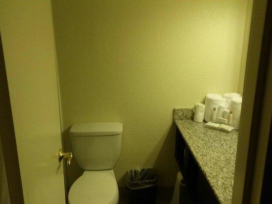 Village Inn Event Center: Small but efficient bathrooms...