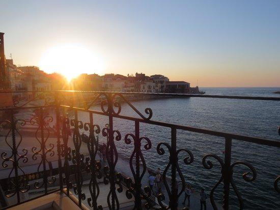 Hotel Belmondo: Evening view from balcony