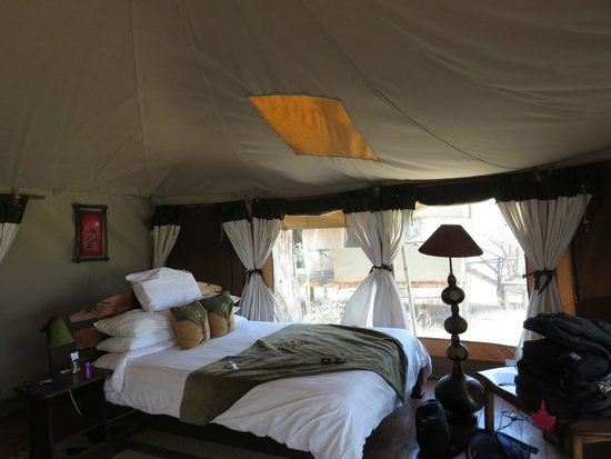 Elephant Bedroom Camp: One side of Tent