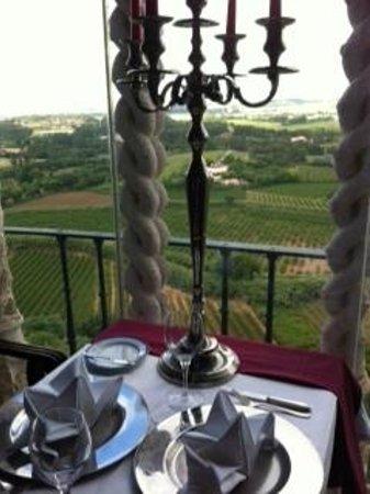 Pousada do Castelo de Obidos : Vista do restaurante do Castelo