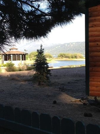 Quail Cove Lakeside Lodge: view from back deck