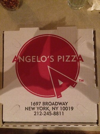 Angelo's Pizza : The leftover box