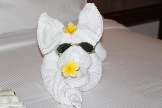 Ubud Green: Nice decoration of the towels for the kids