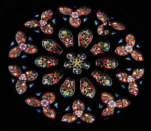St. Peter's Cathedral Basilica London: Rose window in transept