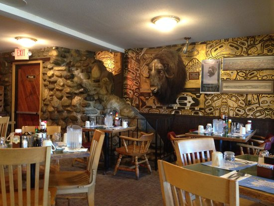 Gwennies Old Alaska Restaurant Muskox Head On The Wall