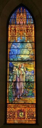 St. Paul's Cathedral : Louis Comfort Tiffany window - signed