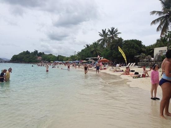Coki Point Beach : crowded beach