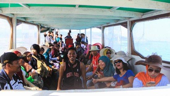 Gili Trawangan: the boat