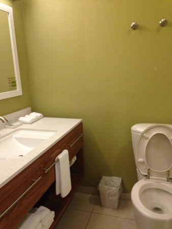 Home2 Suites Charleston Airport / Convention Center : Clean bathroom