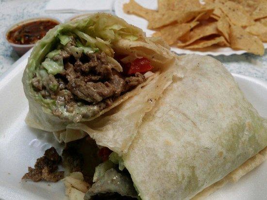 Los Amigos Mexican Food: Carne asada burrito