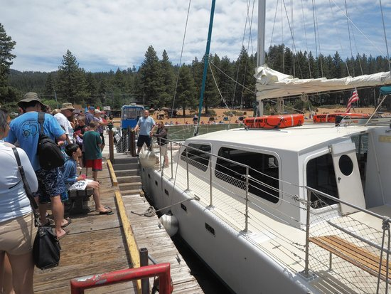 Tahoe Cruises: Brief instruction from the crew prior to boarding