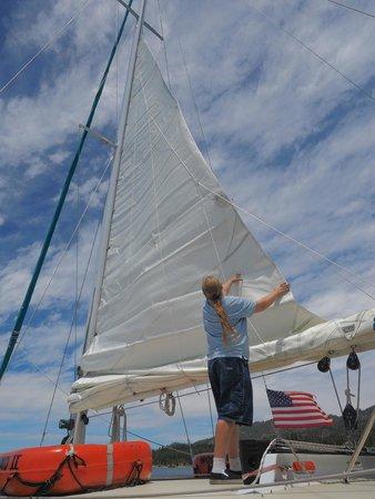 Tahoe Cruises: Raising the sail