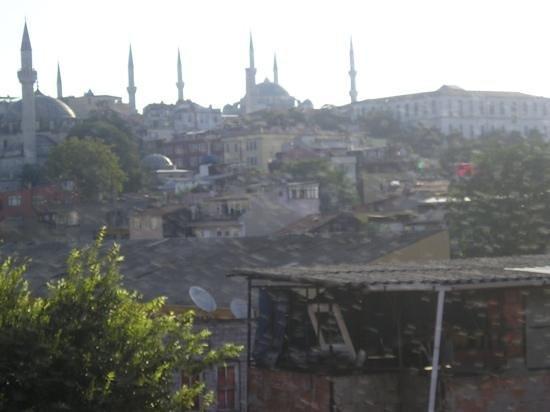Distrito Sultanahmet: vista dall'albergo