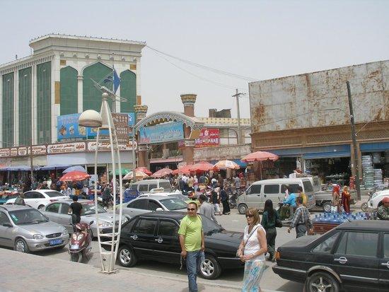 Kashgar Bazaar: entrada al Mercado