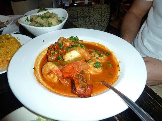 Garcia Seafood Grille : prato do dia - jambalaya lobster shrimp