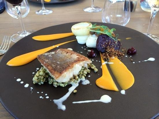 Equus Restaurant at Cavalli Stud and Wine Farm: my fish was mouthwastering and very very tasty