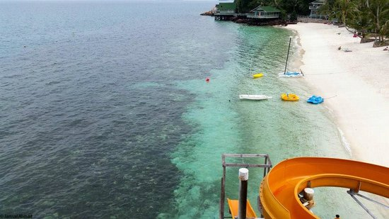 Rawa Island Resort: View from the top of the slide