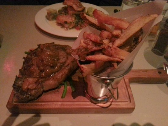 The Chophouse Gastro Pub: Ribeye steak and chips