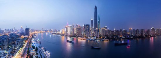 Hotel Indigo Shanghai on the Bund: panorama view over the Huangpu River