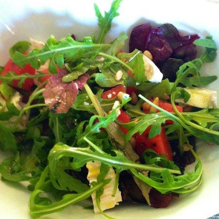 Limestone: Goats cheese, watermelon, pine nuts salad