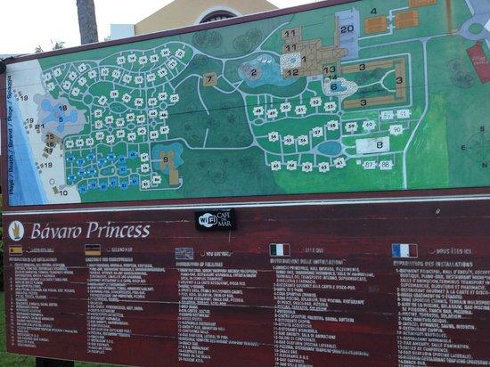 Bavaro Princess All Suites Resort, Spa & Casino: Карта