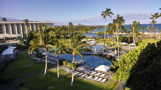 Waikoloa Beach Marriott Resort Spa View From Pool Side Room