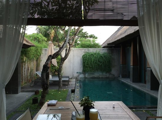 The Kayana Bali: the villa pool
