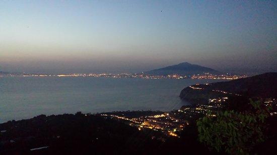 Ristorante Santa Croce Al Picco: Vista sul golfo e Vesuvio