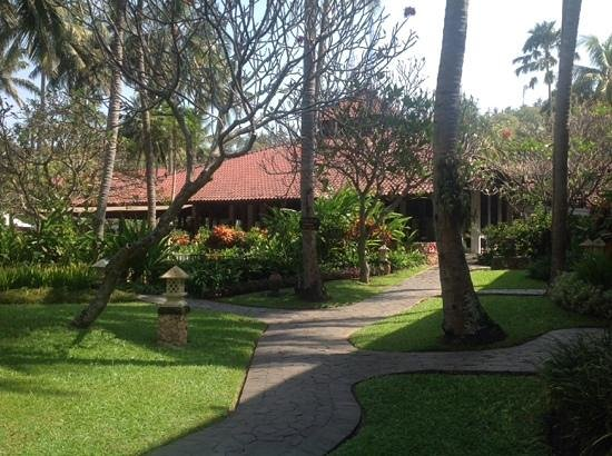 Sheraton Senggigi Beach Resort: View from our pool terrace room, looking towards the breakfast area.