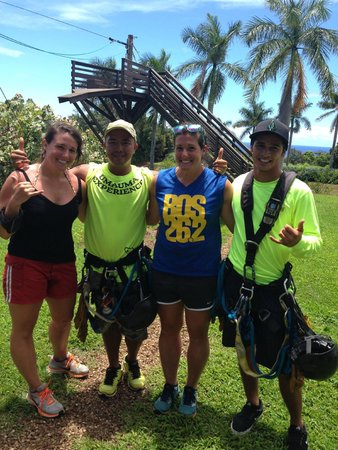 The Umauma Experience: Shakas with our guides Joel and Mike!