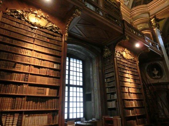 книжные полки Prunksaal Nationalbibliothek