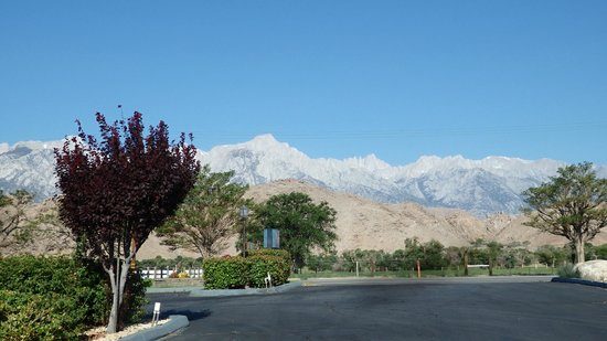 Comfort Inn: View from the hotel to the Sierra Nevada