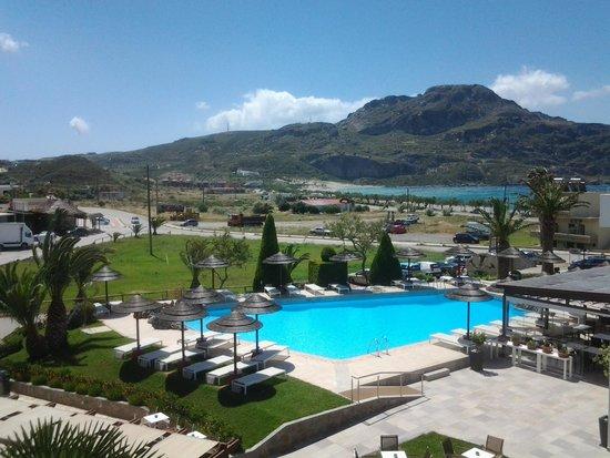 Hotel Alianthos Garden: uitzicht vanuit onze kamer