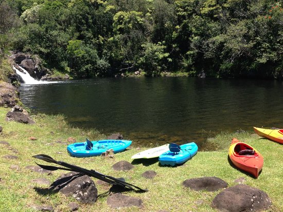 The Umauma Experience: All set up for the Dip, down by the river!