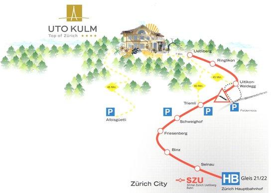 Anreise zum Hotel UTO KULM
