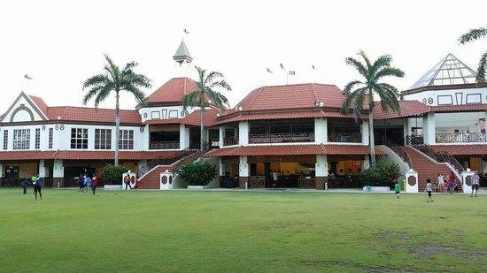 Lotus Desaru Beach Resort: From seaview : Admin block, restaurant & other entertainment/function rooms.
