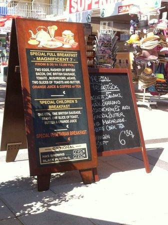 Bibabo Restaurante : Breakfast - more chooses in the menu