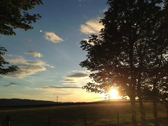 Sonnenuntergang Dumbain Farm