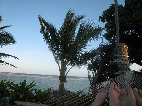 Namuka Bay Lagoon Resort: View from the hammock