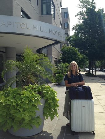 Arriving with our daughter at the Capitol Hill Hotel