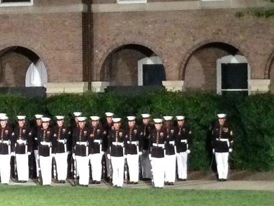 U.S. Marines Sunset Parade: Marine Ceremonial Marchers 6-14