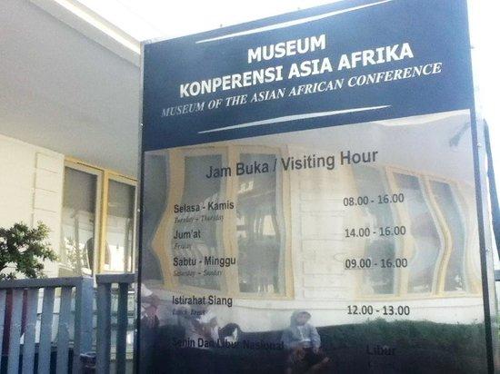 Musée de la conférence afro-asiatique : opening hour info