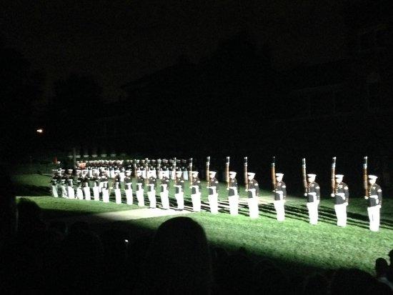 U.S. Marines Sunset Parade: 6-14 Silent Drill Team