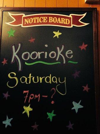 Abermain Hotel: Koorioke in the bar area