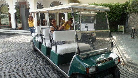 Trident Udaipur: golf car